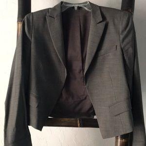 Gray Theory no button short jacket